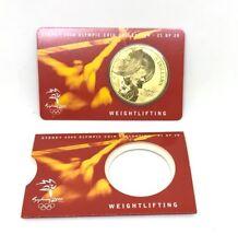 SYDNEY 2000 OLYMPIC GAMES 5 DOLLARS COIN WEIGHTLIFTING 21/28 AUSTRALIA