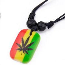 5 X Necklace Pot Leaf Rasta Best Value USA QUICK SHIPPER  Five Necklaces     #9