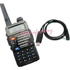 BAOFENG UV-5RB Dual Band Radio U.V 136-174/400-480Mhz Free Earpiece + USB Cable