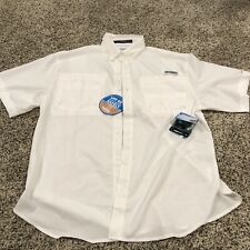 New listing Columbia Sportswear Pfg White Short Sleve Medium see desc (Sg4)