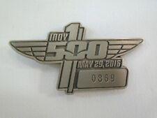 2016 Indianapolis 500 Silver Pit Badge #0869 Alexander Rossi Andretti Autosport