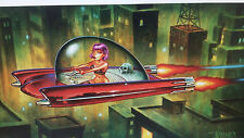 OUT OF PRINT SIGNED KEITH WEESNER POSTER SCI-FI ART SPACESHIP BLADE RUNNER PINUP