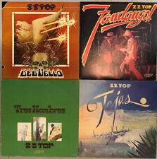 Lot Of 4 ZZ Top Vinyl LP Record Albums Tres Hombres Deguello Tejas Fandango