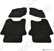 Honda Jazz 2002 - 2008 Tailored Black Car Floor Mats Carpets 4pc Set 2 Holes