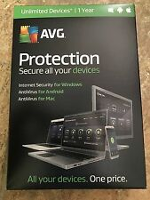AVG Protection- Secure all your devices, Unlimited Devices/ 1 year