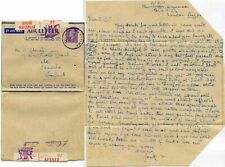 BRITISH NAVAL FLEET MAIL CENSORED AIRLETTER MARITIME MAIL CIRCLE to SALE GB 1944