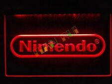 Nintendo LED Neon Bar Sign Home Light up movie Pub Bud Beer mancave mario wii ds
