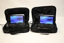 """Philips 7"""" Portable Dvd Players 2-Pack for Car Pd7016/37 Black Complete"""