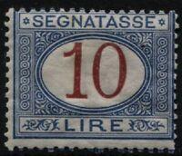 Regno - 1890/94 - Segnatasse Lire 10 - nuovo  - MNH - Sassone n.28