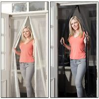 JML Snap Screen Door Mesh Magnetic Auto Fastening Fly Bug Insect Net Black/White