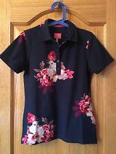 NWT Ladies JOULES French Navy Bircham Bloom PIPPA Print Polo Shirt Sz US 6 UK 10