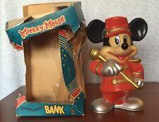 Vintage Walt Disney Mickey Mouse Mouseketeer Knickerbocker Bandleader Bank & Box