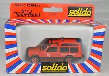 "Solido France #2119 Talbot Matra Rancho Fire Service Vehicle 4"" Long Mint W/Box"
