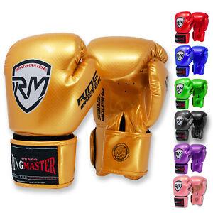 RingMaster Kids Boxing Gloves Punch Junior Kick MMA Martial Mitts Bag Training