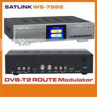For 1PC SATLINK WS-7992 2 Route 1080 HDMI HD AV COFDM DVB-T modulator