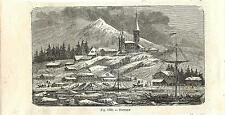 Stampa antica BERYOZOVSKY panorama Russia 1889 Antique print античный печать