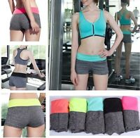 Damen Shorts Sport Hotpants Sportshorts Gym Fitness Kurz Laufhose S/M/L/XL
