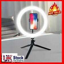 LED Ring Light Lamp Phone Selfie Camera Studio Video Dimmable Tripod Stand UK