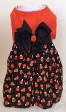 Happy Halloween Candy Corn Dog Dress Size Small Pet Apparel