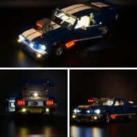 Complete upgrade version of LED Light kit for LEGO 10265 Ford Mustang lighting