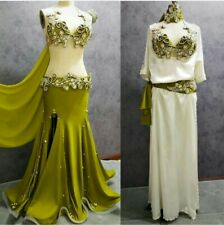 Egyptian professional belly dance costume with galabeya baladi made any color
