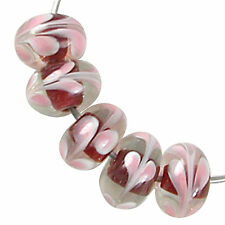 Trez Handmade Glass Lampwork Beads (Set of 10; Small Hole 1.5mm) Rondelle 370