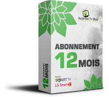 Abonnement 12 mois  , ANDROID ,M3U ,SMART ip TV, sans adultes