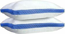 Hypoallergenic Gusseted Quilted Pillow Firm Queen Bed Pillows Side Back Sleeper