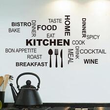 Stickers Autocollants Muraux Amovible Lettre DIY Décoration pour Cuisine