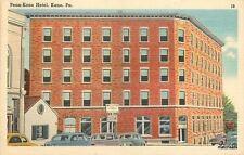 1940s Penn Kane Hotel  Pennsylvania autos Tichnor Linen Roadside postcard 250