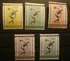 Paraguay 1962:  Internationale Zusammenarbeit im Sport 1103 -1107 postfrisch MNH