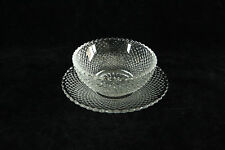 HEISEY GLASS CRYSTAL # 1454 DIAMOND POINT OPEN SALT CELLAR DIP NUT DISH ASHTRAY