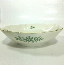 Lenox Holiday Dinnerware Collection Holly and Berry Motif Serving Bowl