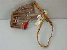Museruola cane in plastica Marrone FUSS DOG Taglia 8 cinturino nylon giallo M319