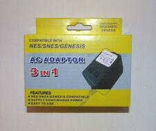 AC Adapter Power Supply 3 in 1 for NES, SNES Super Nintendo & Sega Genesis 1 NEW