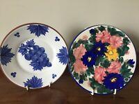 """2 Vintage Portuguese hand-painted plates - 7"""" diameter"""