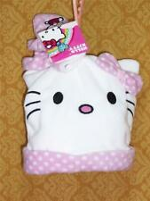Hello KITTY Fleece HAT and MITTENS Set CAP White Cat Face Girls 4-6x Tuque NWT