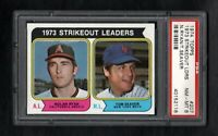 1974 TOPPS #207 STRIKEOUT LEADERS RYAN/SEAVER PSA 8 NM/MT TOUGH CARD!