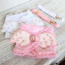 Dog Pet Harness Cozy Puppy Cat Safety Control Lace Wings Elegant Harness Leash