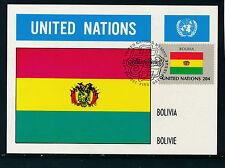 United Nations, Bolivien, Flaggen-Karte, Flags   12/5/15