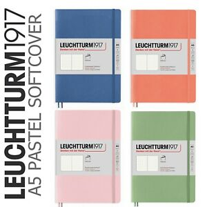 Leuchtturm 1917 A5 Dotted Notebook 123 Pages - NEW Softcover Muted Pastel