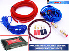 1500 Watt Complete 8 GAUGE Car Amp Audio Amplifier Wiring Kit Cable Subwoofer