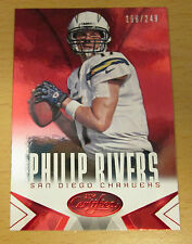 2014 PANINI CERTIFIED MIRROR RED #/249 PHILIP RIVERS SAN DIEGO CHARGERS