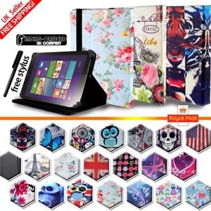 """For Various 7"""" 8"""" 10"""" Lenovo Tablet - Folio Stand Leather Cover Case + Stylus"""