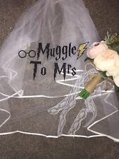 Personalised Veil Harry Potter Inspired  Hen Party Glitter Muggle To Mrs Print