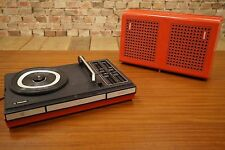 PHILIPS GF 623 PLACA GIRATORIA PORTABLE MALETA VINTAGE 70s Batería WINDUP