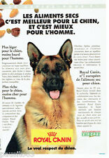 PUBLICITE ADVERTISING 096  1996  Royal Canin  aliment pour chien