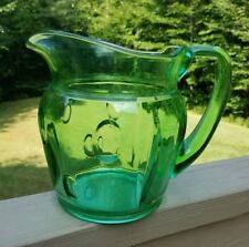 Duncan and Miller Plaza Punties Green Elegant Depression Glass Water Pitcher