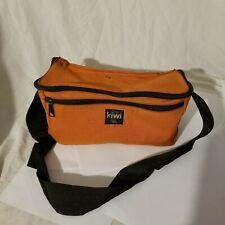 vintage orange KIWI camera bag retro
