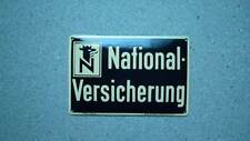 NATIONAL VERSICHERUNG runde Ecken        Orginal altes Emailschild